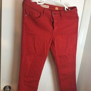 Pilcro & Letterpress jeans red 32P Anthropologie